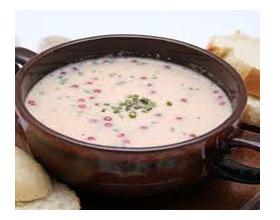 Клубничный суп со сливками