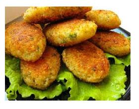 Котлеты из листовой капусты и картофеля