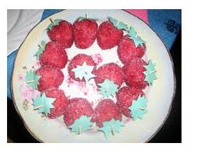 Пирожное Клубнички