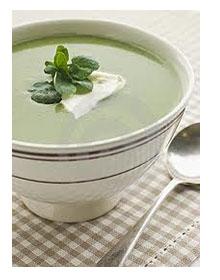 Суп с водяным крессом