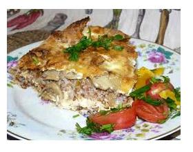 Закусочный пирог с куркой